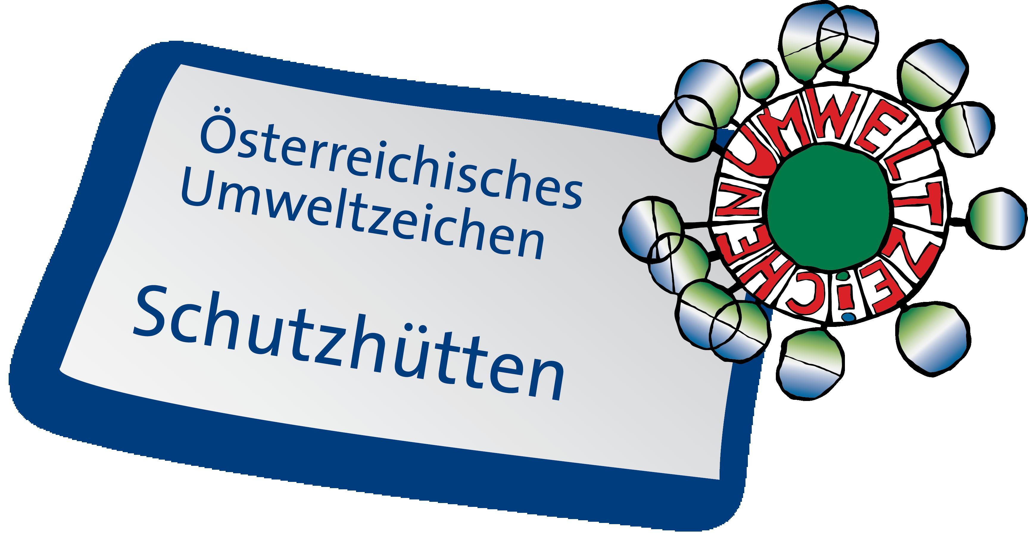 Österreichisches Umweltzeichen SCHUTZHÜTTEN-Logo